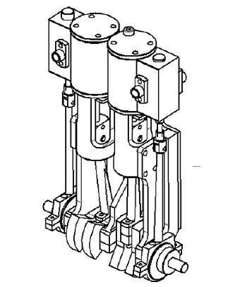 Bi-cylindres à plat JP Duval